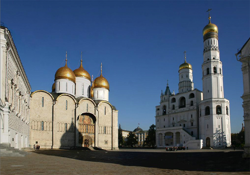 The Cathedral Square of the Moscow Kremlin