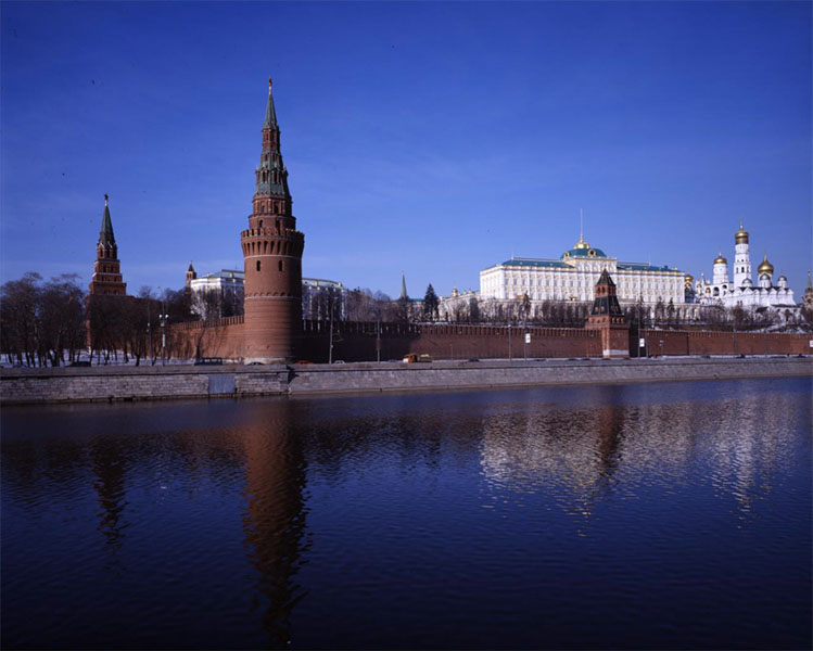 The Moscow Kremlin and the Moskva River. View from the Greater Stone Bridge